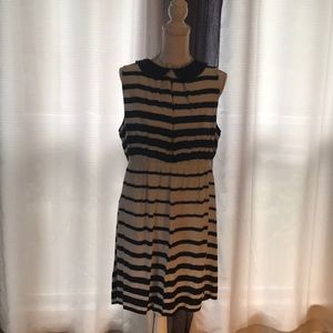 Elle striped maxi dress with Peter Pan collar